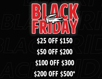 Lacoste Canada Black Friday 2019 Sale *Live*: Save up to $200 off with Coupon Code + FREE Shipping on All Orders!