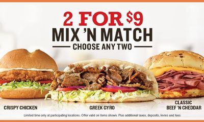 Mix and Match at Arby's
