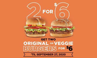 Original or Veggie Burgers at Harvey's