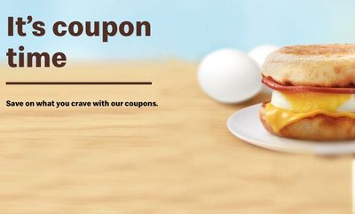 COUPONS ON at McDonald's Canada